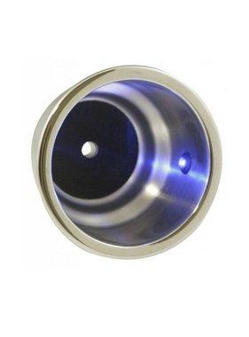 ITC Bekerhouder LED, blauw, inbouw, RVS