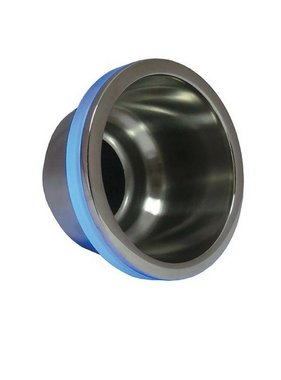 ITC Getränkehalter aus Edelstahl, LED-Ring, blau, außen