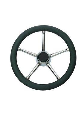 Savoretti Steering Wheel, T17B/35, Black/SS, PU foam Cover, 35 cm