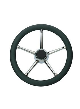 Savoretti Steering Wheel T17B/35 - Black/SST - PU foam Cover - 35 cm.