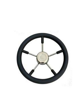 Titan Marine Steering wheel T9B/55, Black/SS, 55 cm.