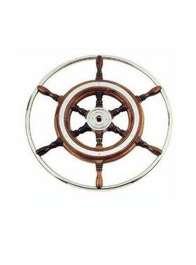 Savoretti Steering wheel T3/49 - Mahogany wood/SST - Ø 49 cm