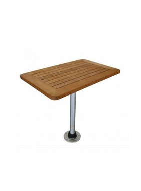 Titan Marine Teak table top, square, Medium 45 cm * 70 cm.
