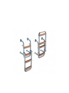 Titan Marine SST Boarding ladder - folding. 5 step - width: 228 mm - Teak steps