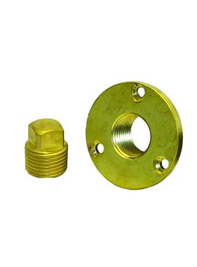 Boatersports Garboard Plug Kit - Messing