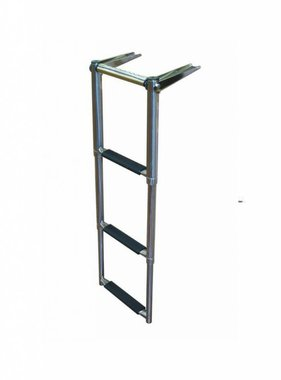 Titan Marine Telescopic drop ladder with finger grip - 3 step