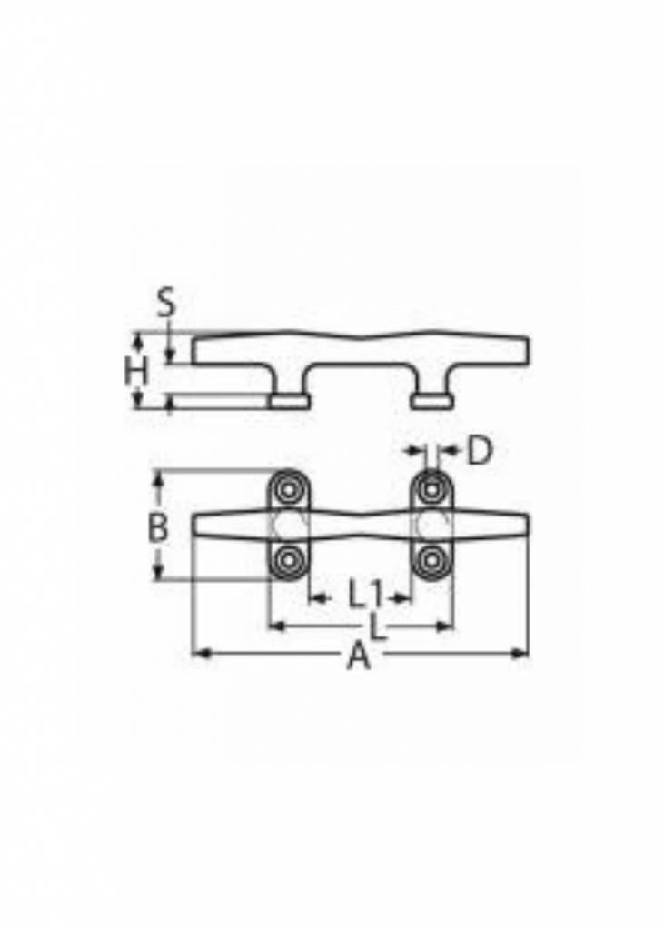 Titan Marine Hollow Klampe - AISI316 - 200 mm