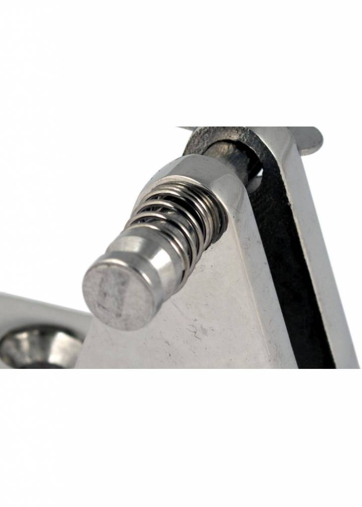 Titan Marine Deckmount Hinge SST with clevis pin