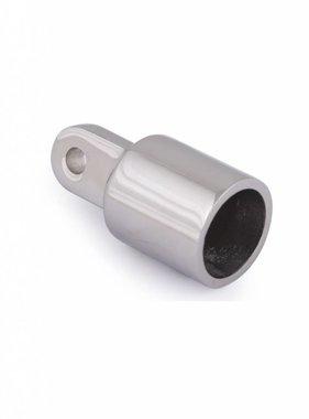 Eindkap buis met oog, RVS, 25 mm