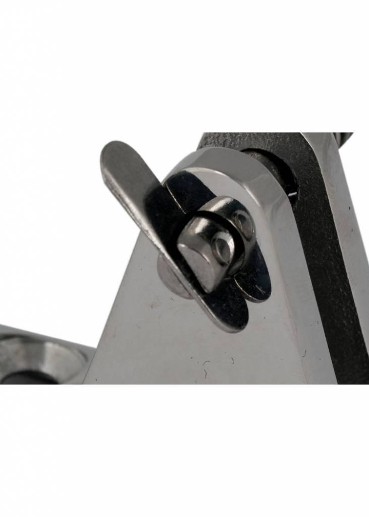 Titan Marine RVS Railingbeugel met gaffelpen voor buisdiameter 20/22/25 mm