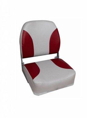Titan Marine Deluxe bootstoel met hoge rug - Grijs/Rood