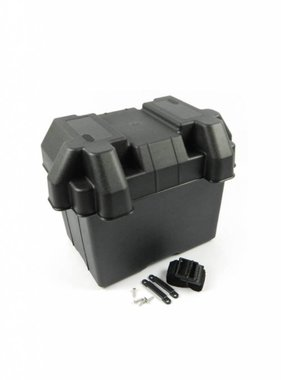Battery Box. Heavy duty plastic. W/strap & screws, 28*19*33
