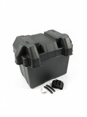 Batteriekasten Kunststoff, Mit Klebeband & Schrauben, 39*19*23