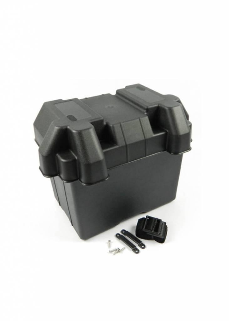 Battery Box. Heavy duty plastic. W/strap & screws. 39*19*23