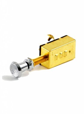 Boatersports Push/Pull Switch 3-Position, Brass