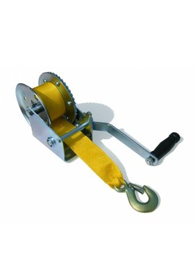 Winch, 540 kg. With strap and hook