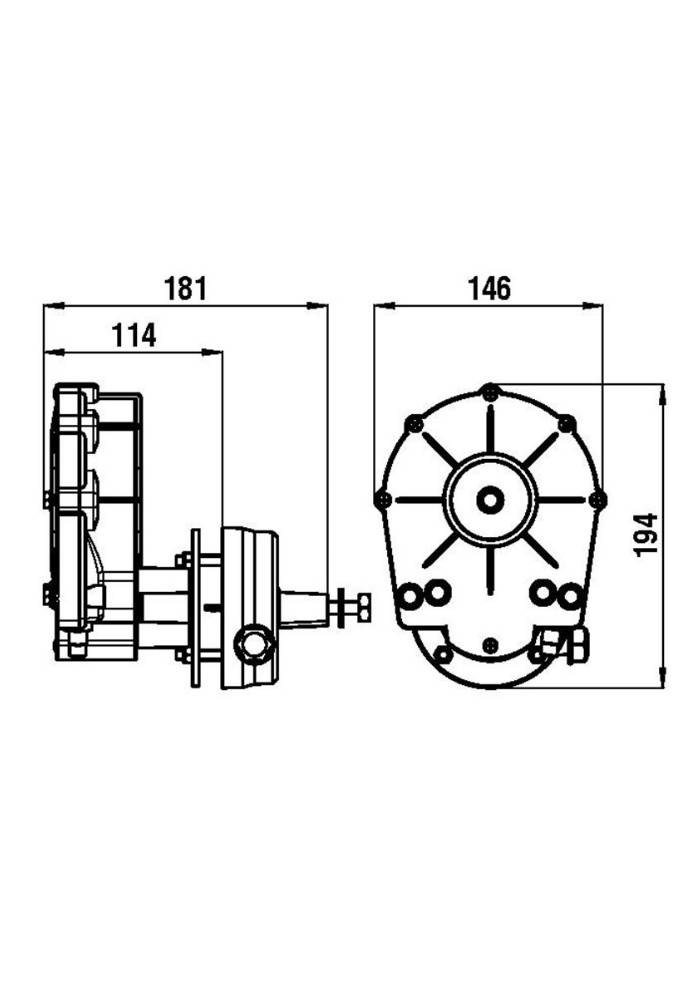 Riviera RIVIERA Steering system set - Titano Series KSG02 with steering cable up 2,13 m to 4,88 meter