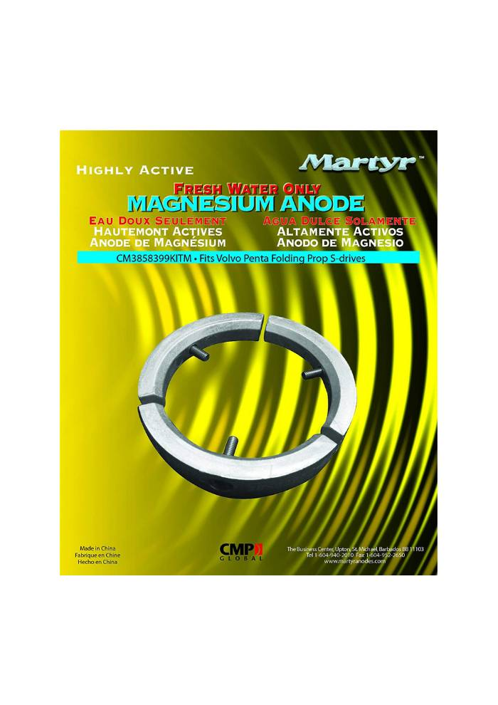 Martyr Anodes Volvo Penta Anode Kit Folding prop - MG
