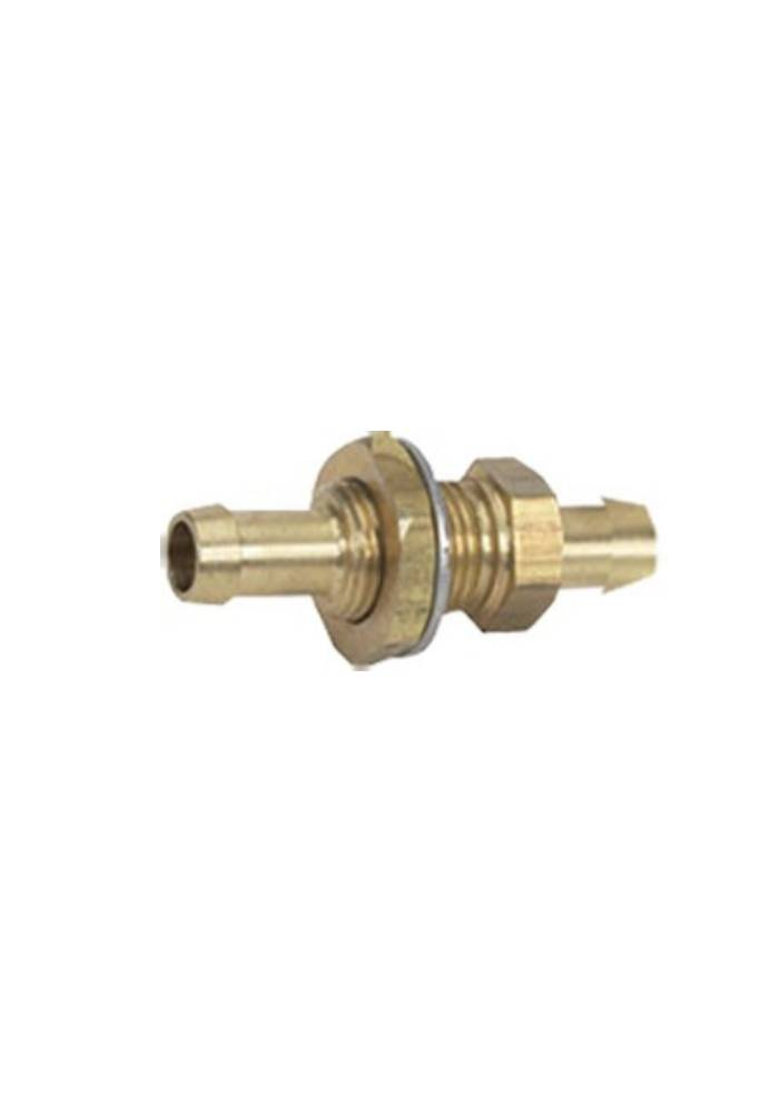 """Boatersports Messing Bulkhead Fitting - 3/8"""" * 3/8"""""""
