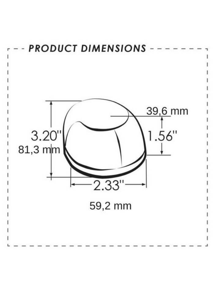 Edelstahl Positionslicht Rot - Montage an Deck