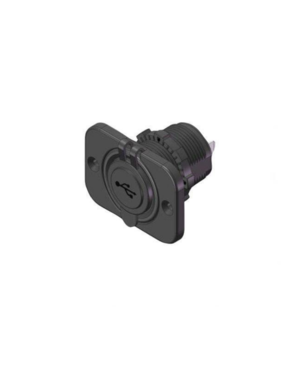 Titan Marine Usb plug, square w/quick ring, flush mount