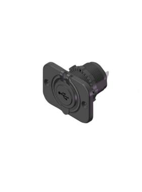 Titan Marine Usb plug - square with quick ring - flush mount