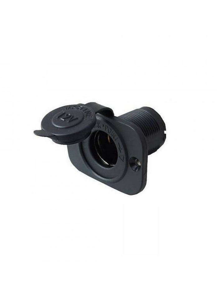 Titan Marine 12 V plug - square with quick ring - flush mount