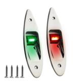 Titan Marine LED Rompbevestiging Navigatielamp RVS - Set