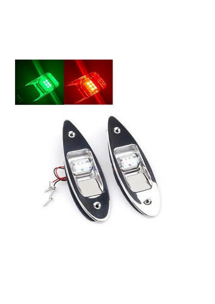 Titan Marine LED Rumpfmontage Navigationsleuchte Edelstahl (Set)