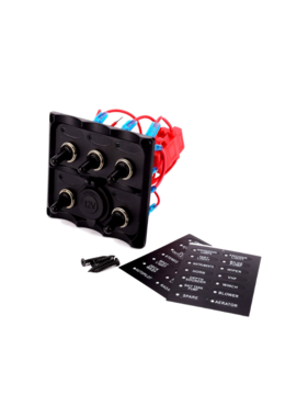 Boatersports 5 Gang Switch Pane with Power Outlet