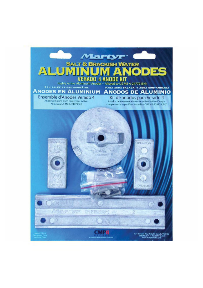 Martyr Anodes Mercury kit cm - Verado 4Kit - AL