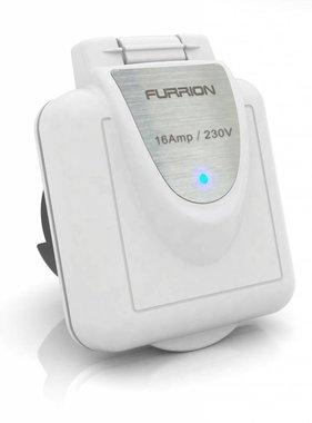 Furrion Vierkantbuchse, 16 Amp, mit weißer Kappe