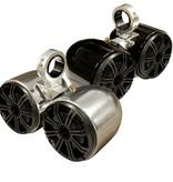 """Monster Tower Kicker Double Barrel Black Speaker - One Pair - 2.5"""""""