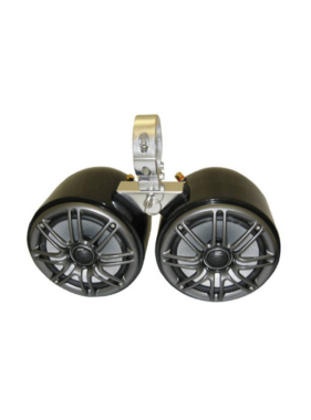 Monster Tower Kicker Double Barrel Black Speaker - One Pair - 2.5""
