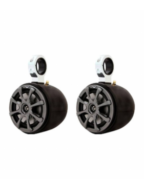 Monster Tower Kicker Single Barrel Black Speaker - One Pair - 2.5""