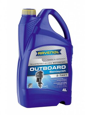 Ravenol Outboard Oil 2 stroke semi-synth, 4 ltr.