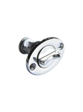 Titan Marine Linsenstecker oval mit Schraubverschluss - Edelstahl - 25,4 mm