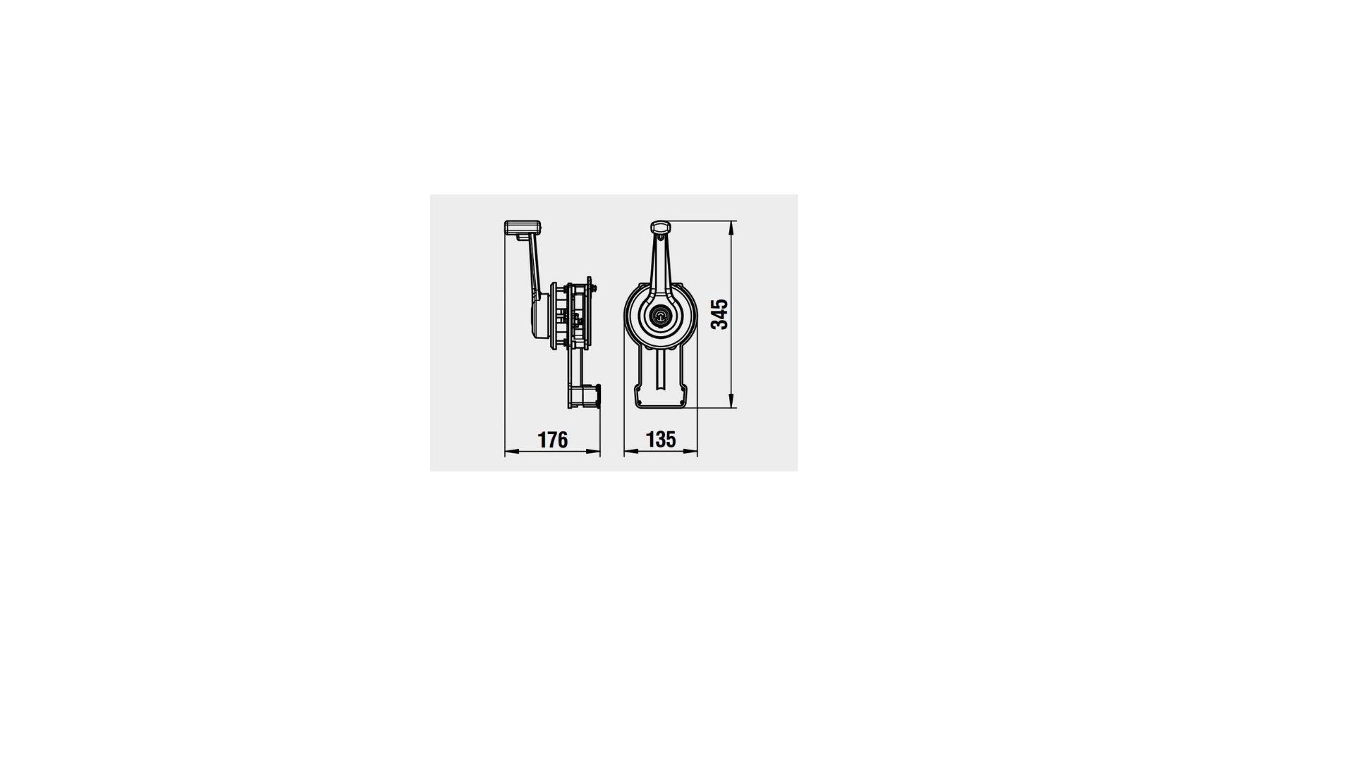Lever Control Flushmount CM02 White
