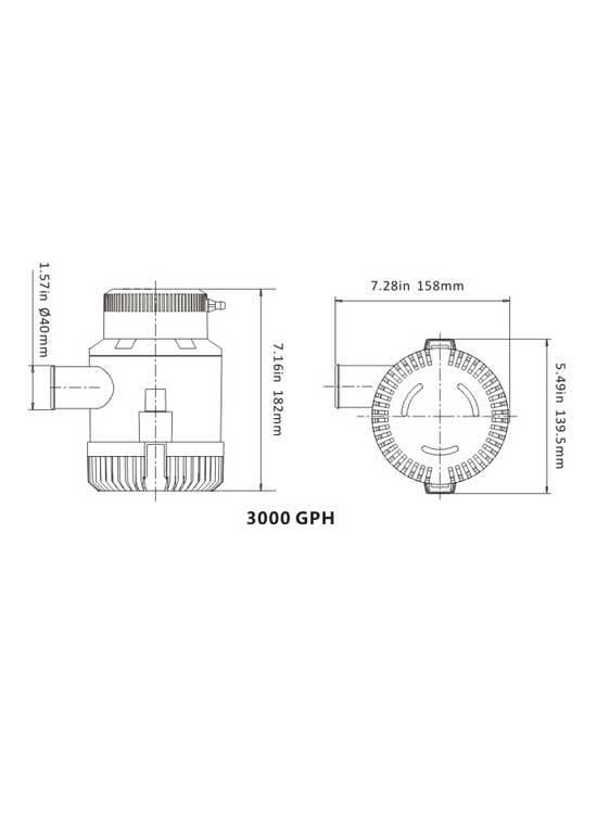 Sea Flo Sea Flo Lenspomp 3000 GPH - 12V
