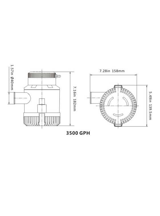 Sea Flo Sea Flo Lenspomp 3500 GPH - 12v