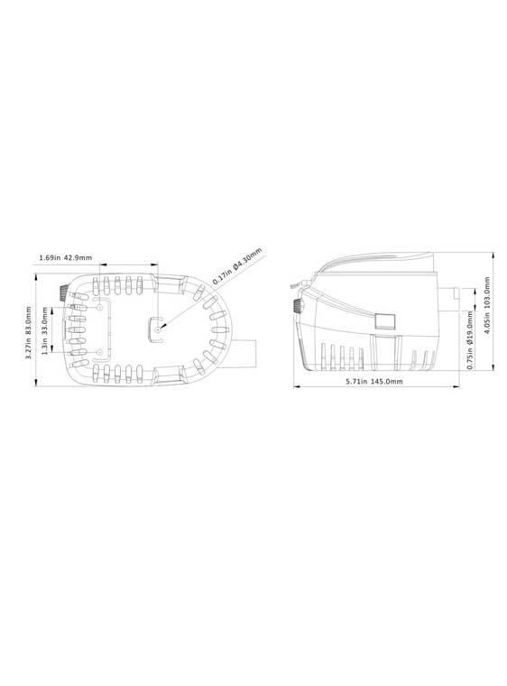 Sea Flo Sea Flo Bilgenpumpe 600 GPH - 12V - Automatik