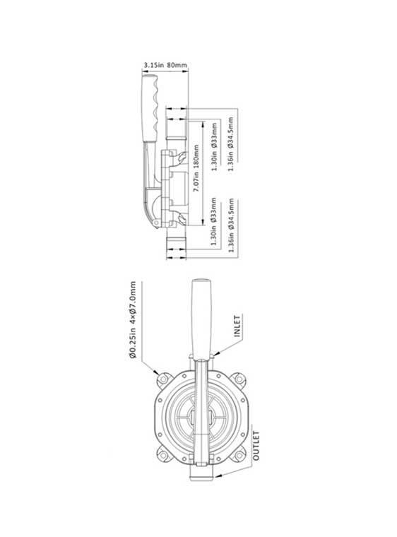 Sea Flo Sea Flo Handpumpe - Kunststoff