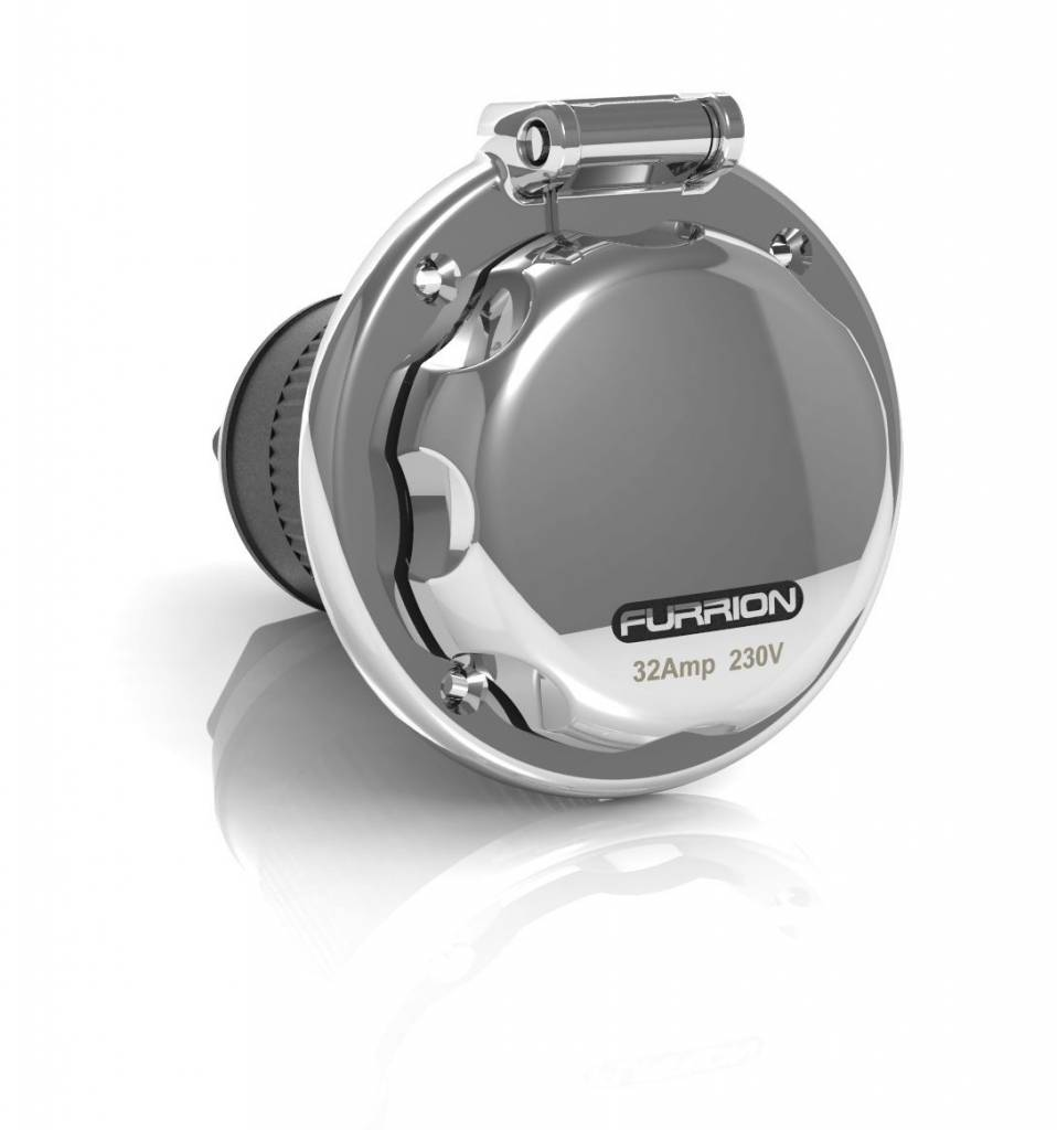Furrion Furrion Rond stopcontact RVS - 32 amp