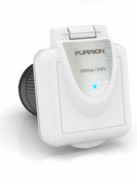 Furrion Vierkantbuchse, 32 Amp, mit weißer Kappe