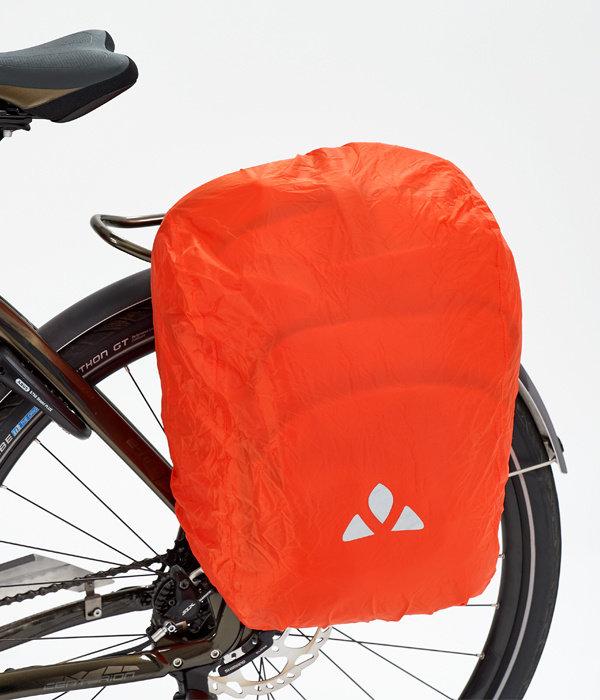 eBack Achtertas:Fietstas voor de vereisten van E-bikers, gemaakt van gerecyclede materialen.