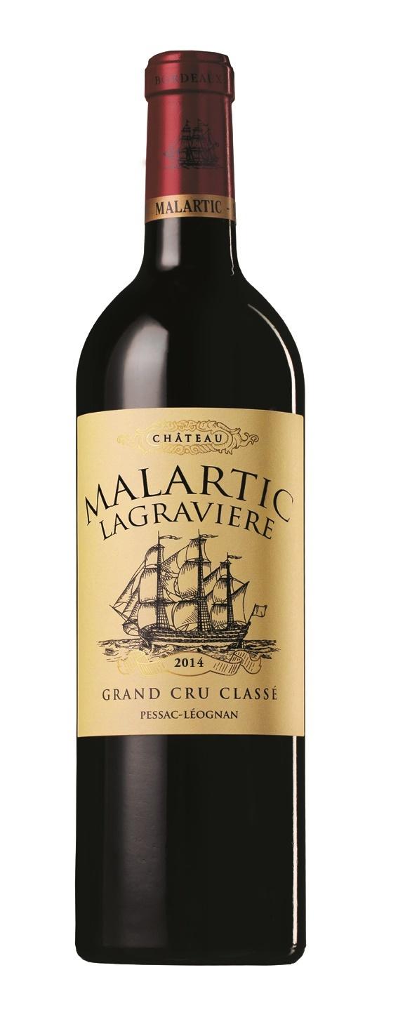 Bordeaux Diverse 2014 Chateau Malartic Lagraviere rouge Cru Classé Pessac-Léognan