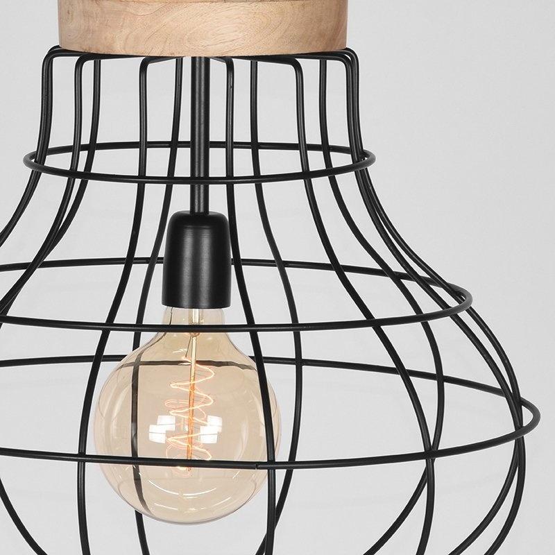 Hanglamp Drop - Zwart - Mangohout
