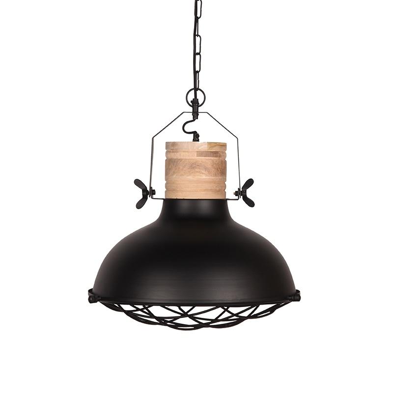 Hanglamp Grid - Zwart - Metaal - 34 cm