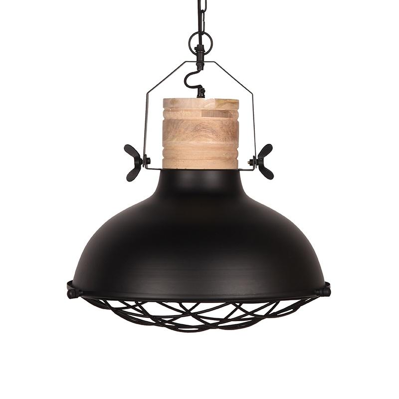 Hanglamp Grid - Zwart - Metaal - 52 cm