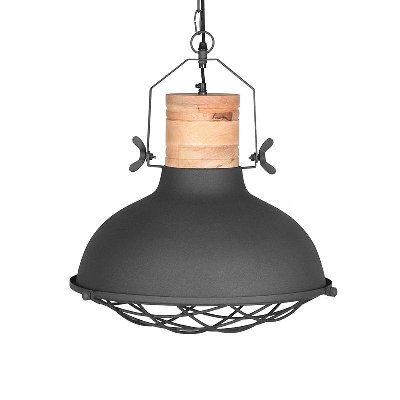 Hanglamp Grid - Antiek grijs - Metaal
